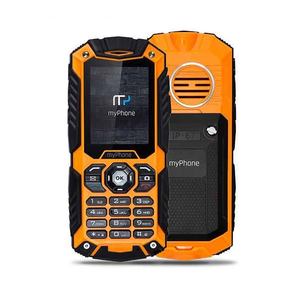 Mobilní telefon myPhone HAMMER Plus Mobilní telefon, 2,2 , Dual SIM, 64 MB, IP67, oranžový TELMYHHAPOR