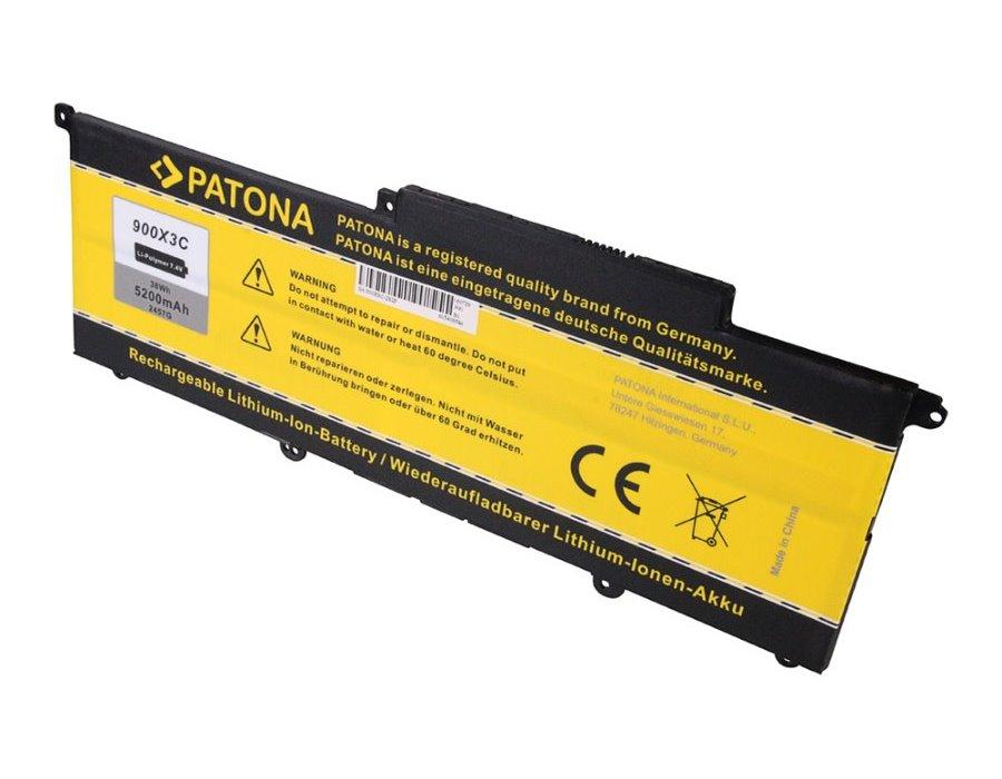 Baterie PATONA pro notebook Samsung NP900 5200 mAh Baterie, pro notebook Samsung NP900, náhrada za AA-PBXN4AR, 5200 mAh, Li-Pol., 10,8 V PT2457