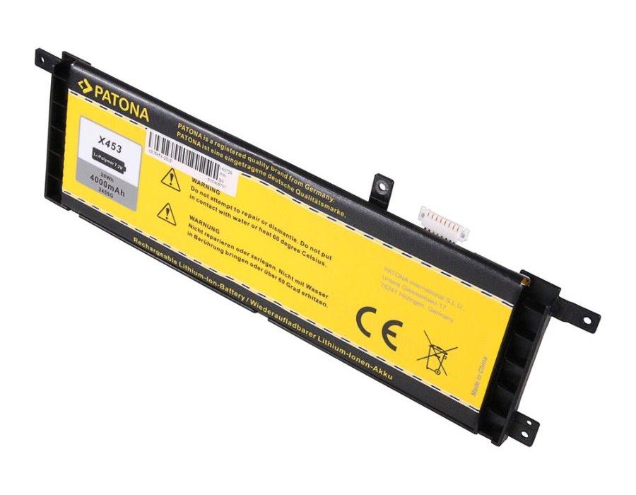 Baterie PATONA pro notebook ASUS X453 4000 mAh Baterie, pro notebook ASUS X453, X553, 4000 mAh, Li-Pol, 7,2 V PT2455
