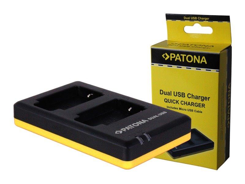 Nabíječka PATONA Foto Dual Panasonic DMW-BLF19 USB Nabíječka, na 2 baterie, pro Panasonic, USB PT1942