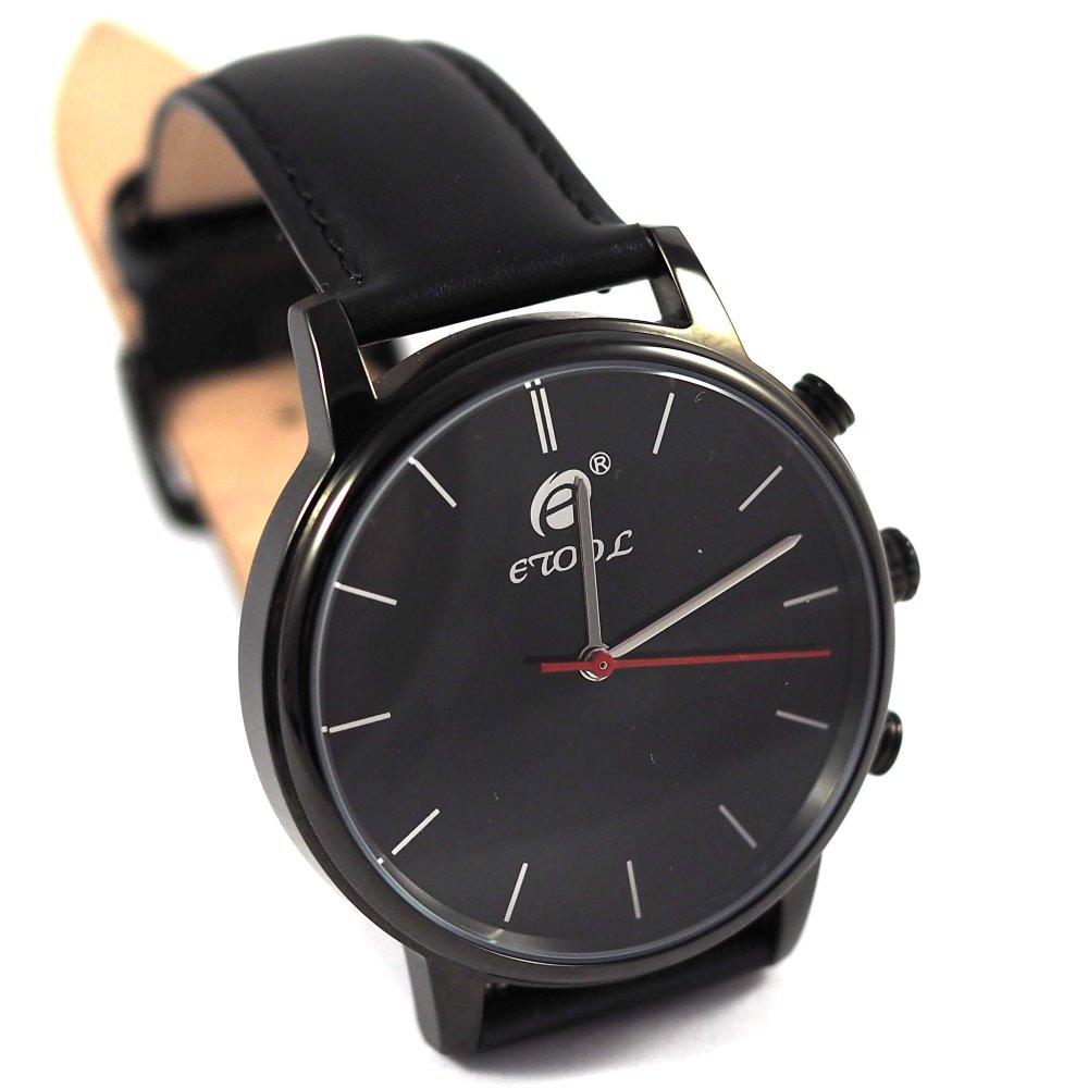 Chytré hodinky Deveroux SW9 černé Chytré hodinky, s měřením kroků a tepu WEAR0012
