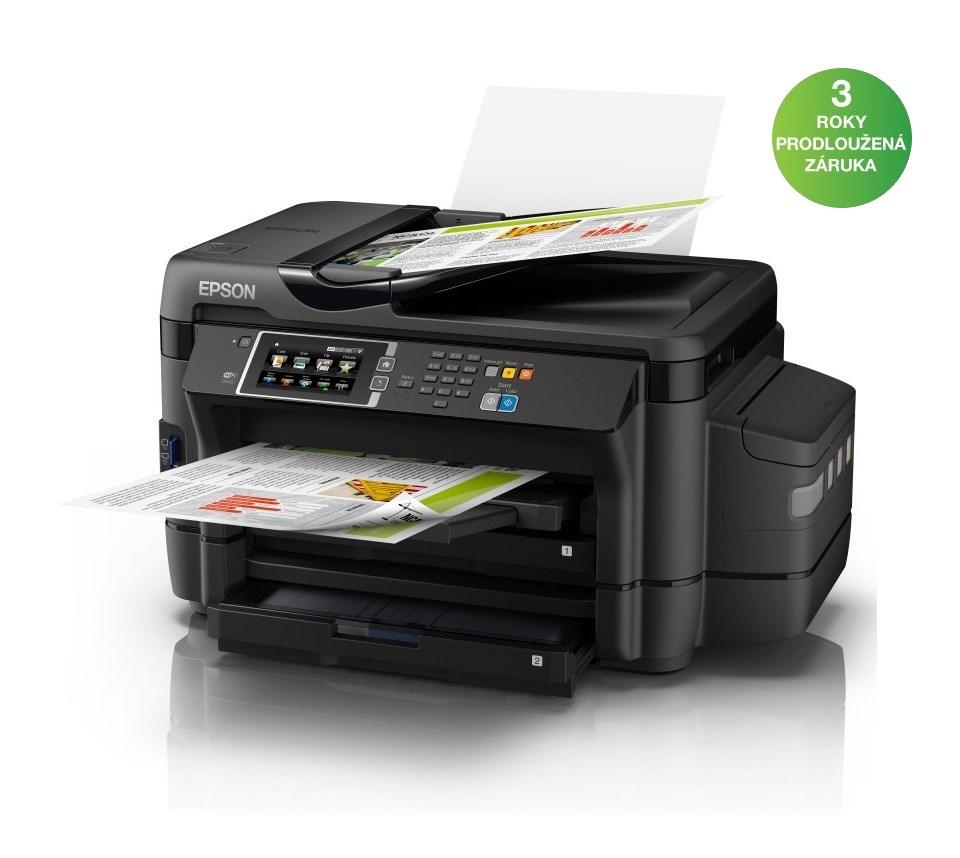 Multifunkční tiskárna EPSON L1455 Barevná multifunkční inkoustová tiskárna, 4800 x 1200, A3+, MFZ, LCD, 4 barvy, Duplex, ADF, Fax, Wi-Fi, USB C11CF49401