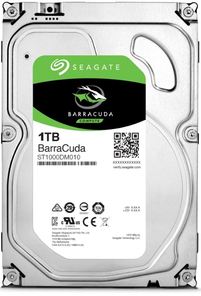 """Pevný disk Seagate BarraCuda 1TB Pevný disk, interní, 1TB, SATA III, 3,5"""", 7200 rpm, 64 MB"""