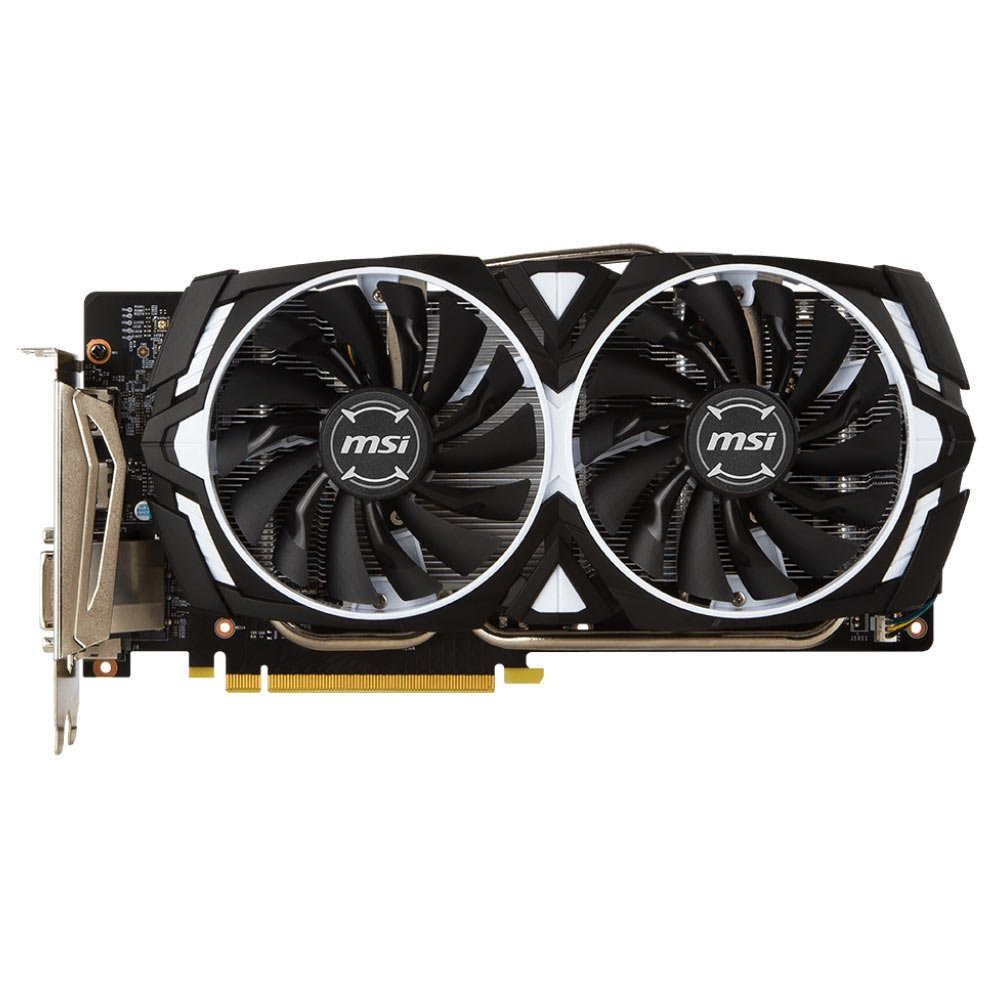 Grafická karta MSI GeForce GTX 1060 ARMOR 6G OCV1 Grafická karta, PCI-E, 6 GB DDR5, HDMI, 2x HDMI, 2x DP, DVI, VR Ready GTX 1060 ARMOR 6G OC