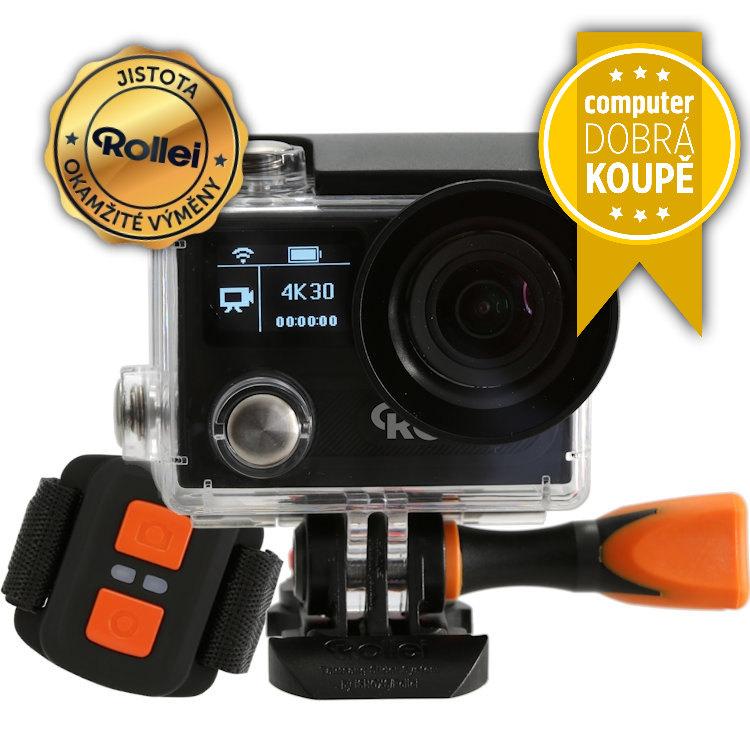 Kamera Rollei ActionCam 430 Kamera, outdoor, 4K video 30 fps, 1080/120 fps, 170, 40m pzd, Dál.ovl, Wi-Fi, černá 40302