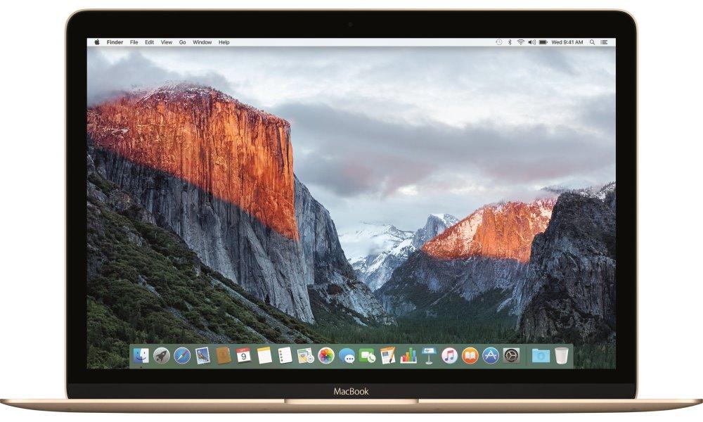 Notebook Apple MacBook 12 Gold Notebook, Core m5 1.2 GHz, 8 GB, 512 GB, Intel HD 515, zlatý mlhf2cz/a