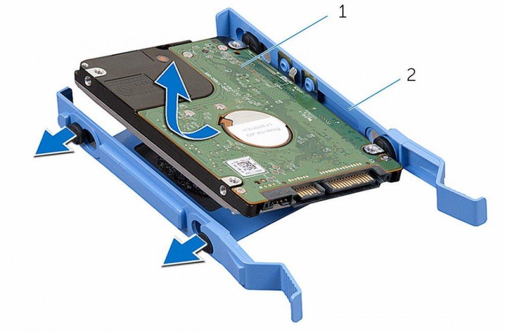 Rámeček DELL pro SATA HDD do PC OptiPlex 2,5 Rámeček, pro 2,5 SATA HDD, do PC OptiPlex, Inspiron, Vostro X9FV3
