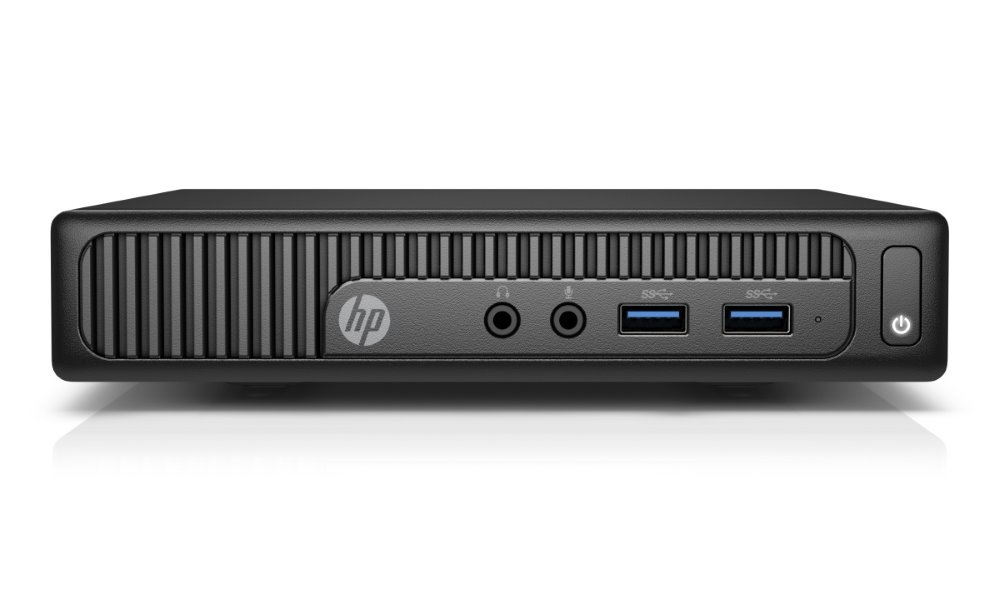 Počítač HP 260G2 DM Počítač, Celeron 3855U, 4GB, 500GB, IntelHD, zdroj 65 W externí, W10P + down W7 Z2J68ESBCM