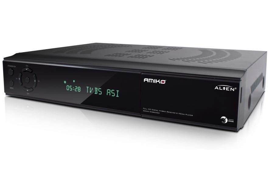 Set-top-box AMIKO Alien 2 Triple Plus Set-top-box, DVB-S2/T2/C, Full HD, čtečka karet, Irdeto, MPEG4, HDMI, USB, PVR, LAN DBSAMHC014