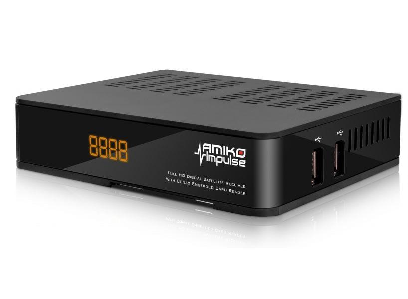 Satelitní přijímač AMIKO Impulse SAT Satelitní přijímač, DVB-S2, Full HD, čtečka UNI, MPEG2, HDMI, USB, PVR, SCART DBSAMHC030