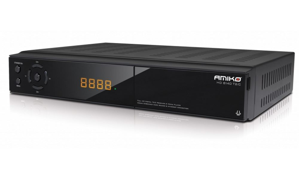 Set-top-box AMIKO 8140 Set-top-box, DVB-T2/C, Full HD, čtečka Conax, HDMI, USB, RS232, SCART, LAN DBTAMHC010