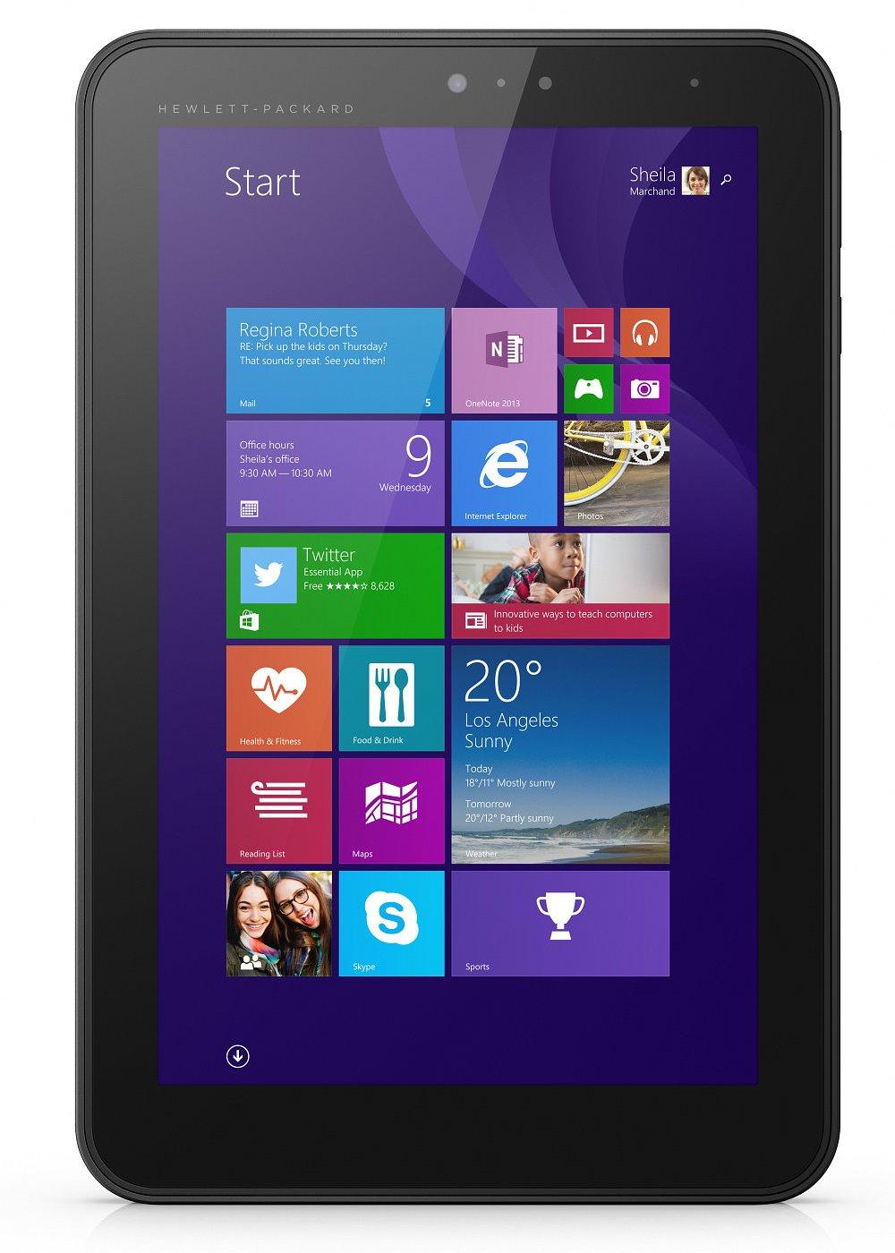 Tablet HP Pro Tablet 408 G1 Tablet, 8, Intel Atom Z3736F, 2 GB, 64 GB + MicroSD, microHDMI, WiFi, BT, Stylus, Win10 Pro H9X72EABCM