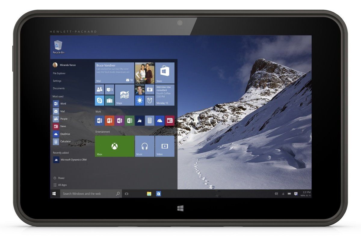 Tablet HP Pro Tablet 10 EE Tablet, 10,1 HD, Intel Atom Z3735F, 2 GB, 32 GB + MicroSD, microHDMI, WiFi, BT, 3G, Win 10 Home H9X69EABCM