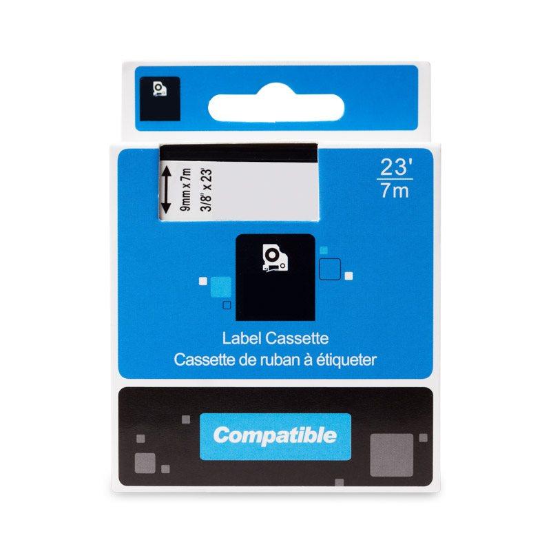 Páska PrintLine kompatibilní s DYMO 40915 Páska, pro tiskárny štítků, kompatibilní s DYMO 40915, S0720700, 9mm, 7m, červený tisk/bílý podklad, D1