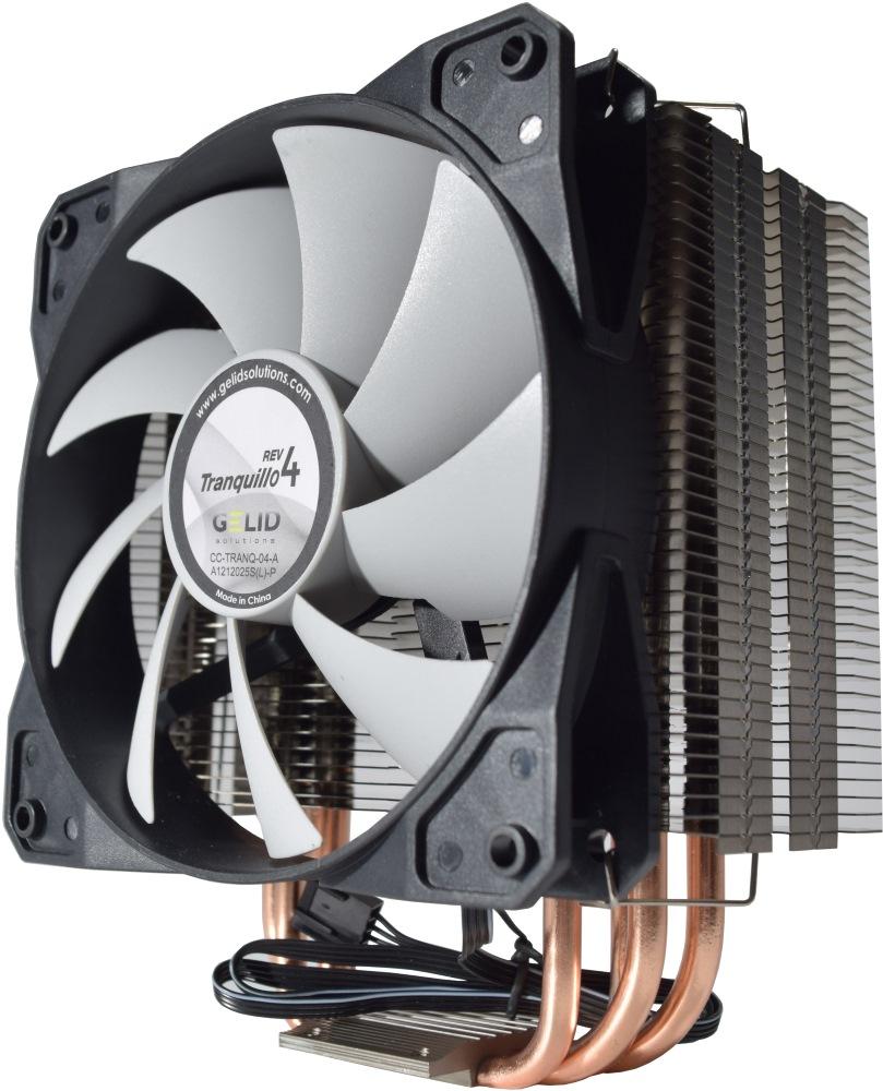 Chladič GELID TRANQUILLO rev. 4 Chladič, CPU, 4 x H/pipe, pro Intel i AMD, s. 775, 1156, 1366, 754, 939, 940, AM2, AM3, revize 4 CC-TranQ-04-A