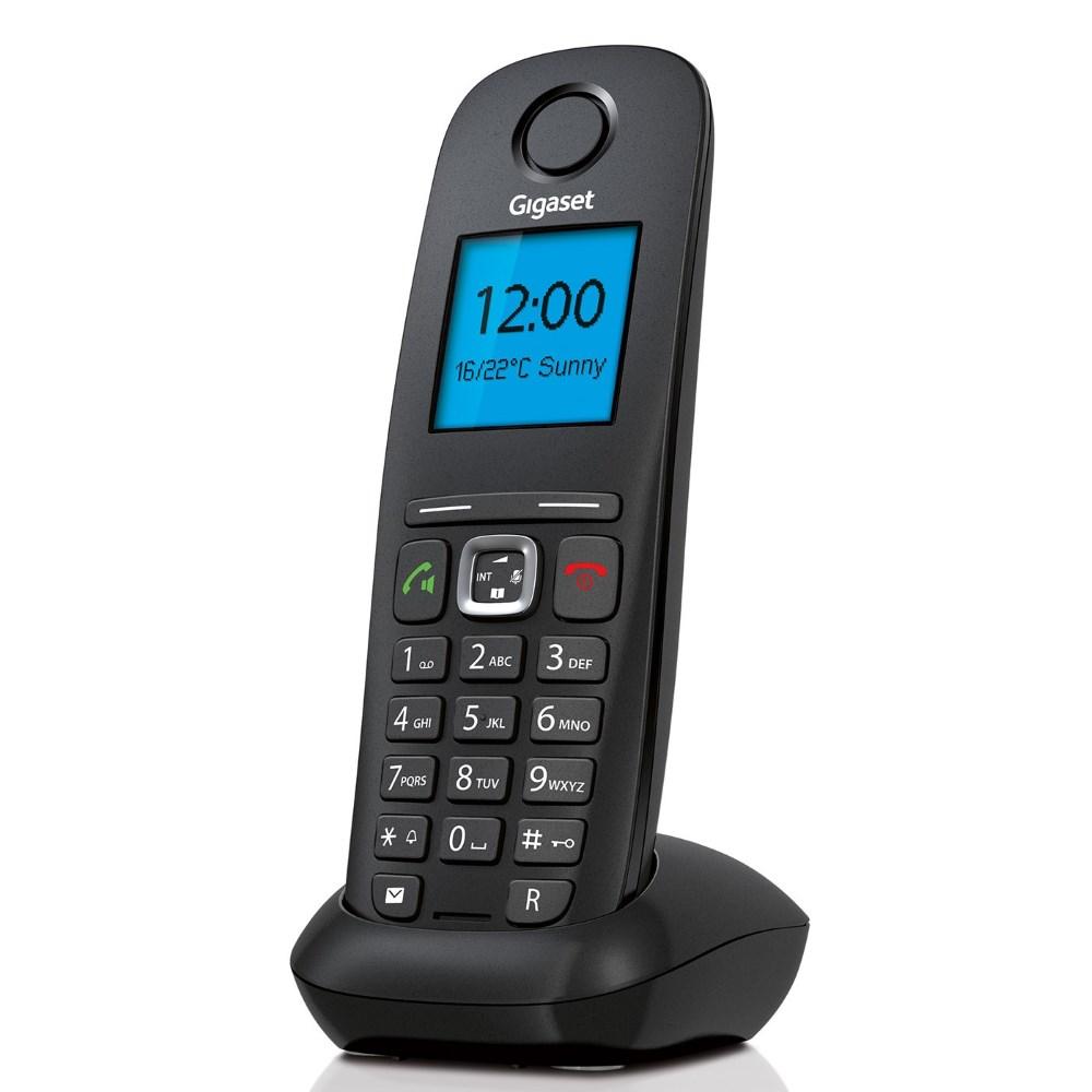 Bezdrátový IP telefon SIEMENS GIGASET A540 Bezdrátový IP telefon, DECT, GAP, barva černá GIGASET-A540IP