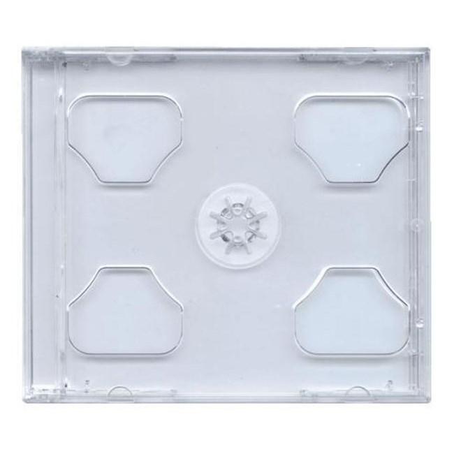Box na CD COVER IT box na jewel + tray BOX na CD, plastový obal, 2 CD, čirý 27008