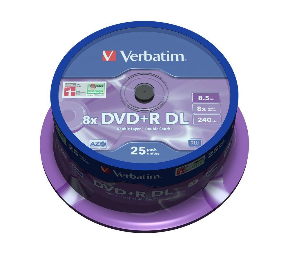 DVD médium VERBATIM DVD+R DoubleLayer 8,5 GB 25 ks DVD médium, DVD+R, 8,5 GB, DoubleLayer, 8x, MATT SILVER, 25 pack, spindle 43757