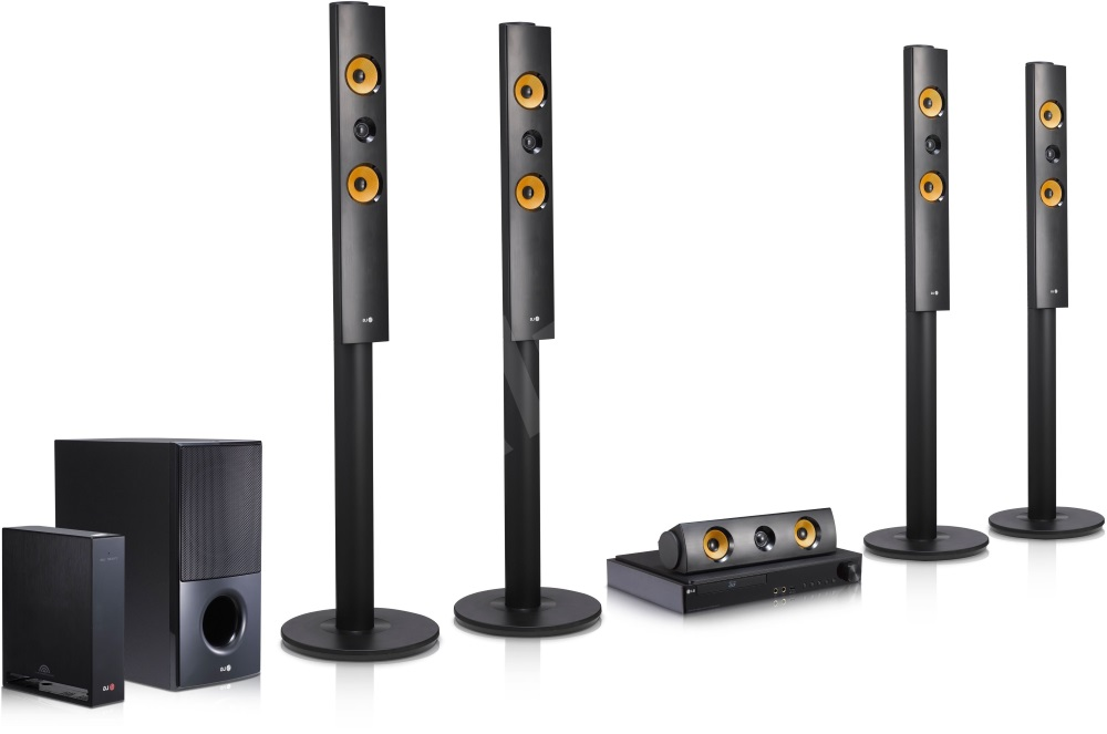 Domácí kino LG LHB755 Domácí kino, 3D, 5.1, BD, DVD, CD, HDMI, USB, LAN, BT, 1200 W LHB755