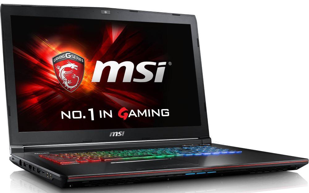 Notebook MSI GE72VR 6RF-204CZ Apache Pro Notebook, 17,3 FHD, i7-6700HQ, 16 GB DDR4, 128 GB SSD M.2 + 1 TB HDD, GTX1060 3 GB, W10 Home GE72VR 6RF-204CZ