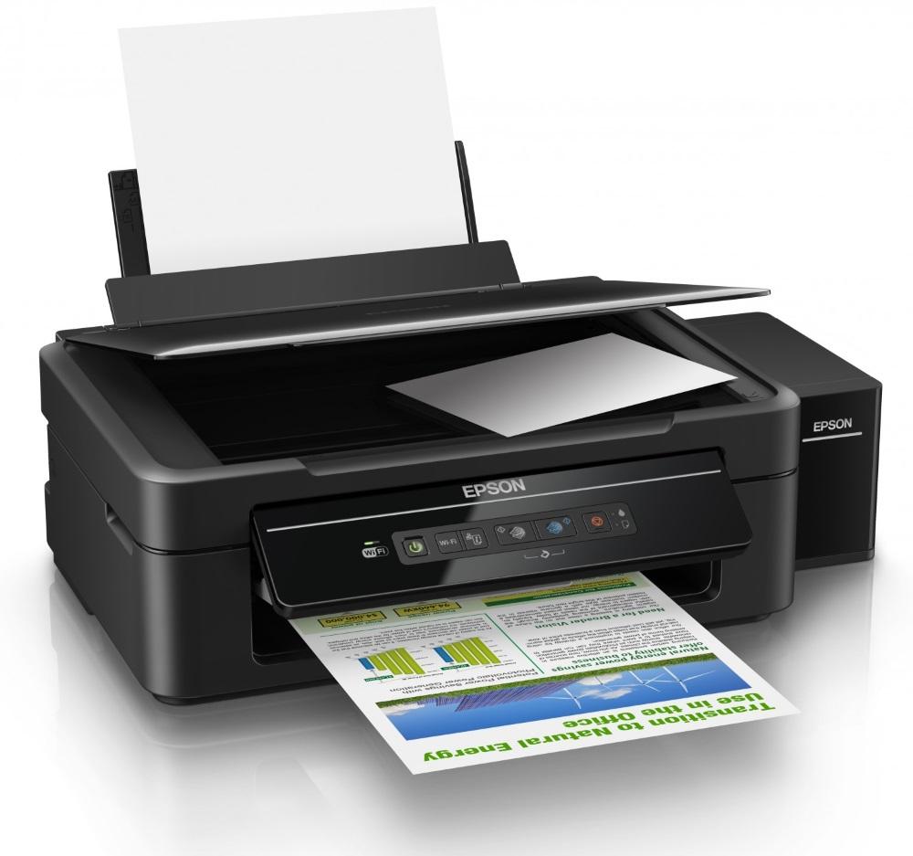 Multifunkční tiskárna Epson L365 + barvy ZDARMA Barevná multifunkční inkoustová tiskárna, 5760 x 1440, A4, MFZ, 4 barvy, Wi-Fi, USB + sada barev ZDARMA C11CE54401