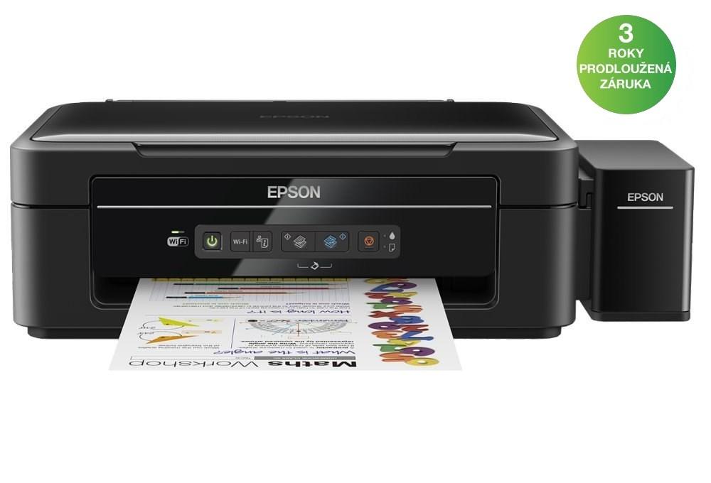 Multifunkční tiskárna Epson L386 Barevná multifunkční inkoustová tiskárna, 5760 x 1440, A4, MFZ, 4 barvy, Wi-Fi, USB C11CF44401