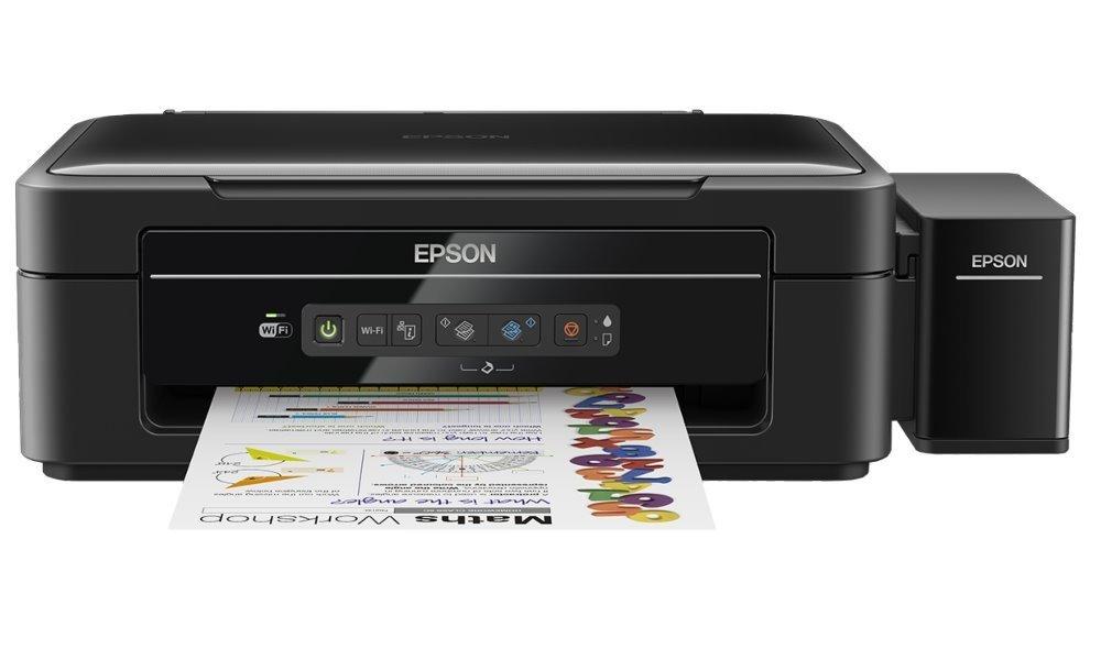 Multifunkční tiskárna Epson L386 + barvy ZDARMA Barevná multifunkční inkoustová tiskárna, 5760 x 1440, A4, MFZ, 4 barvy, Wi-Fi, USB + sada barev ZDARMA C11CF44401