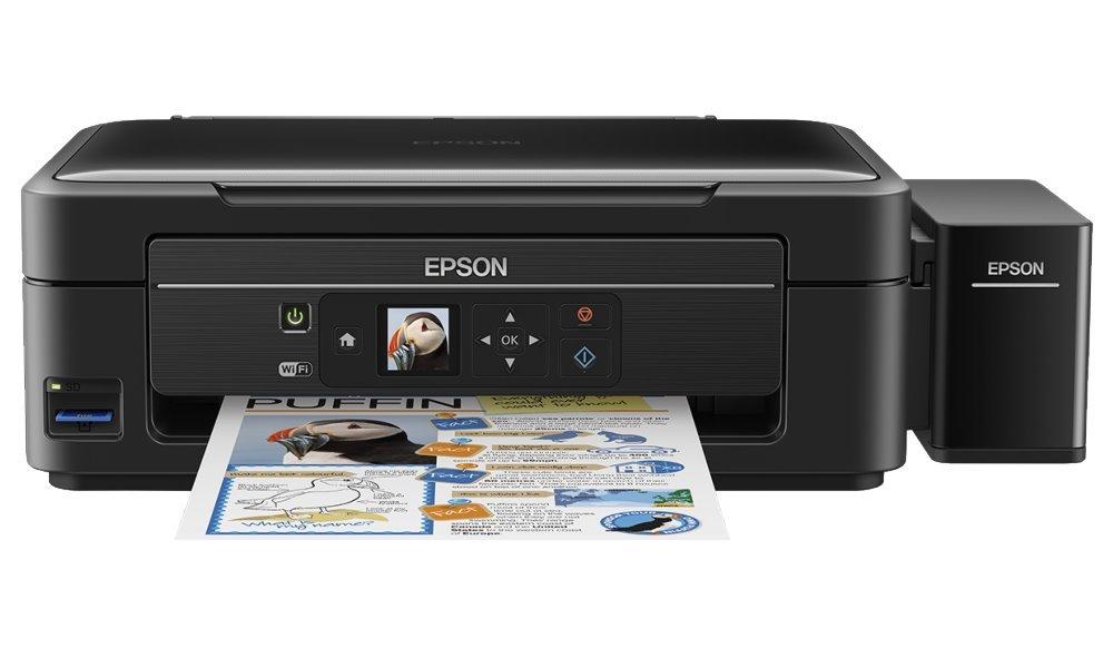 Multifunkční tiskárna Epson L486 + barvy ZDARMA Barevná multifunkční inkoustová tiskárna, 5760 x 1440, A4, MFZ, LCD, 4 barvy, Wi-Fi, USB + sada barev ZDARMA C11CF45401