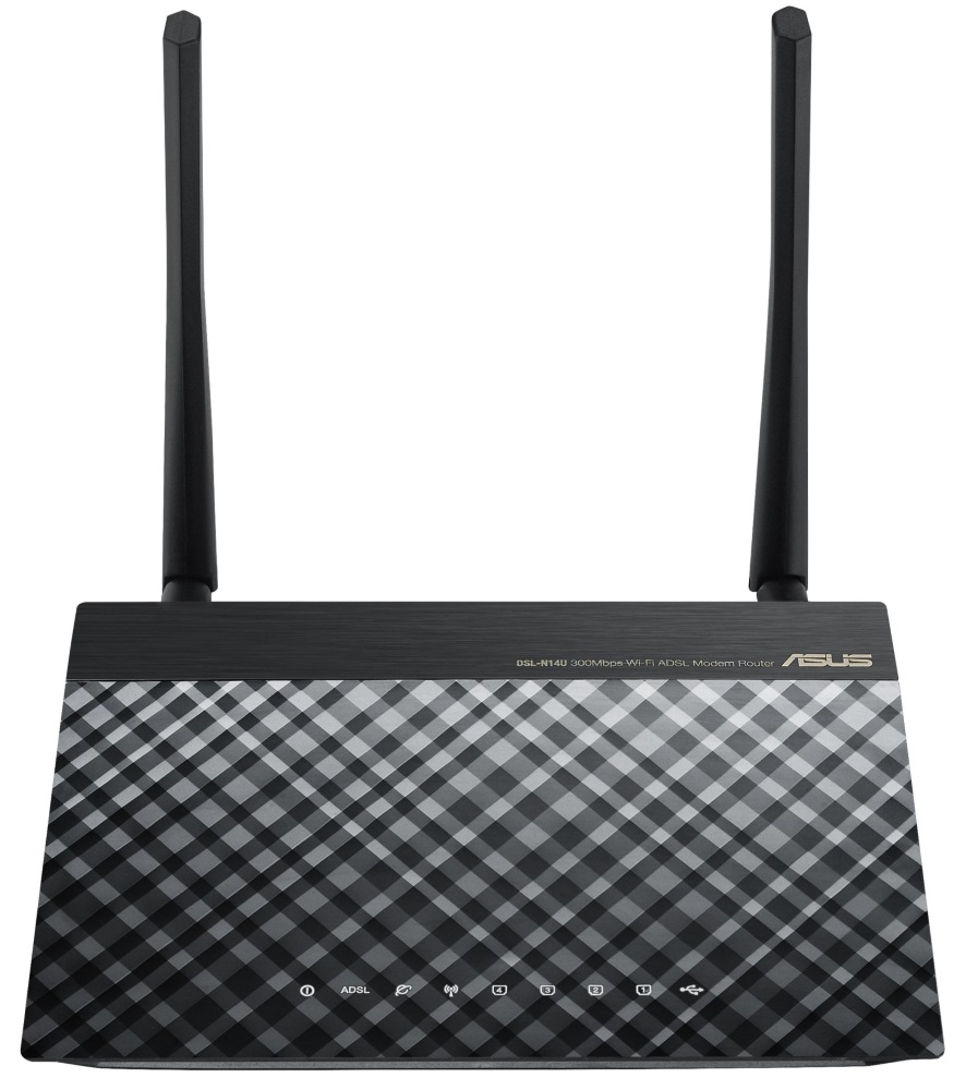 Router ASUS DSL-N14U B1 Router, ADSL, 802.11b/g/n, 2x 2 dBi anténa, 2.4GHz 90IG00Z1-BM3020