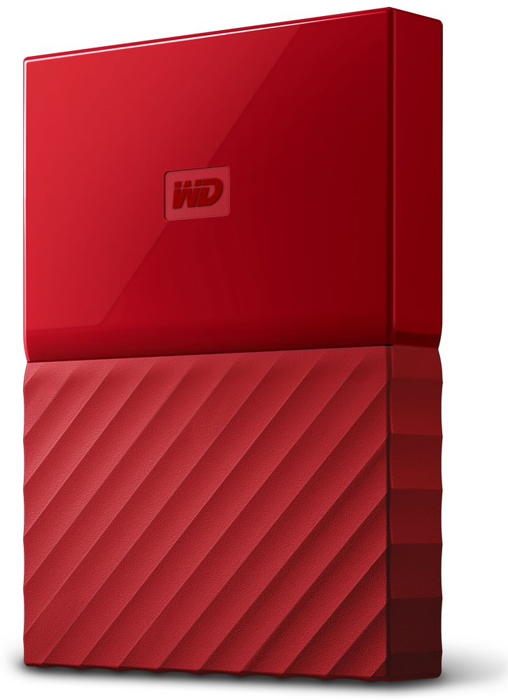 Pevný disk WD My Passport 1 TB červený Pevný disk, externí, 1 TB, 2,5, USB 3.0, červený WDBYNN0010BRD-WESN