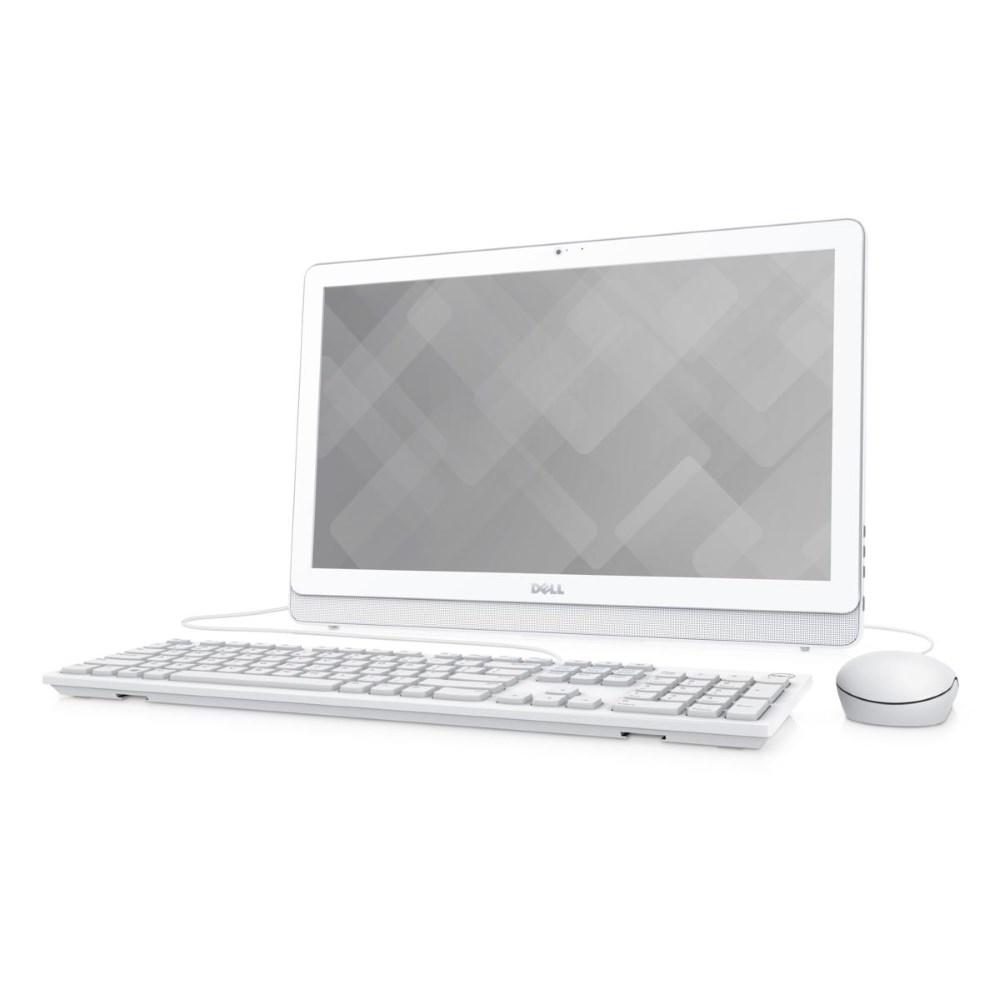 All-in-one počítač DELL Inspiron 22 3000 All-in-one počítač, i3-6100U, 4GB, 1TB, AMD R5 A335 2GB, 21.5 FHD, WiFi, W10, bílý, 2YNBD on-site A-3263-N2-311W