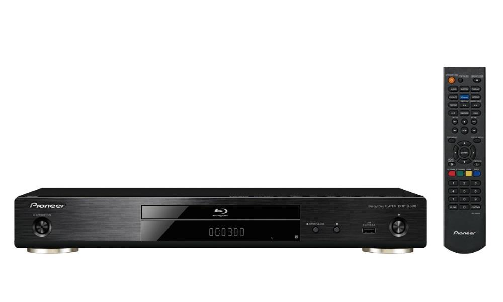 Blu-Ray přehrávač Pioneer BDP-X300-B Blu-Ray přehrávač, 3D, 4K, Wi-Fi, Miracast, DLNA, USB, dálkové ovládání, černý BDP-X300-B