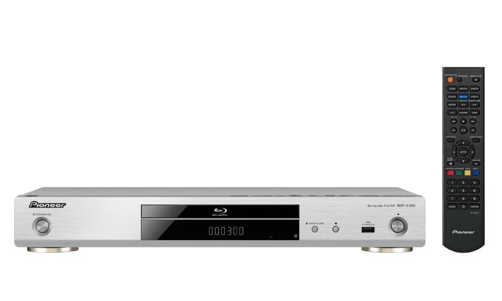 Blu-Ray přehrávač Pioneer BDP-X300-S Blu-Ray přehrávač, 3D, 4K, Wi-Fi, Miracast, DLNA, USB, dálkové ovládání, stříbrný BDP-X300-S