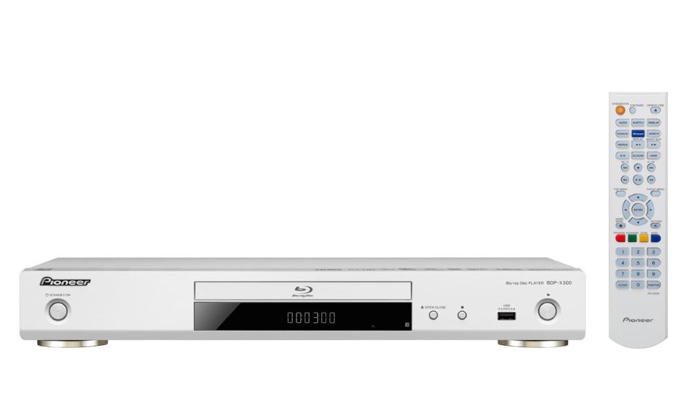 Blu-Ray přehrávač Pioneer BDP-X300-W Blu-Ray přehrávač, 3D, 4K, Wi-Fi, Miracast, DLNA, USB, dálkové ovládání, bílý BDP-X300-W