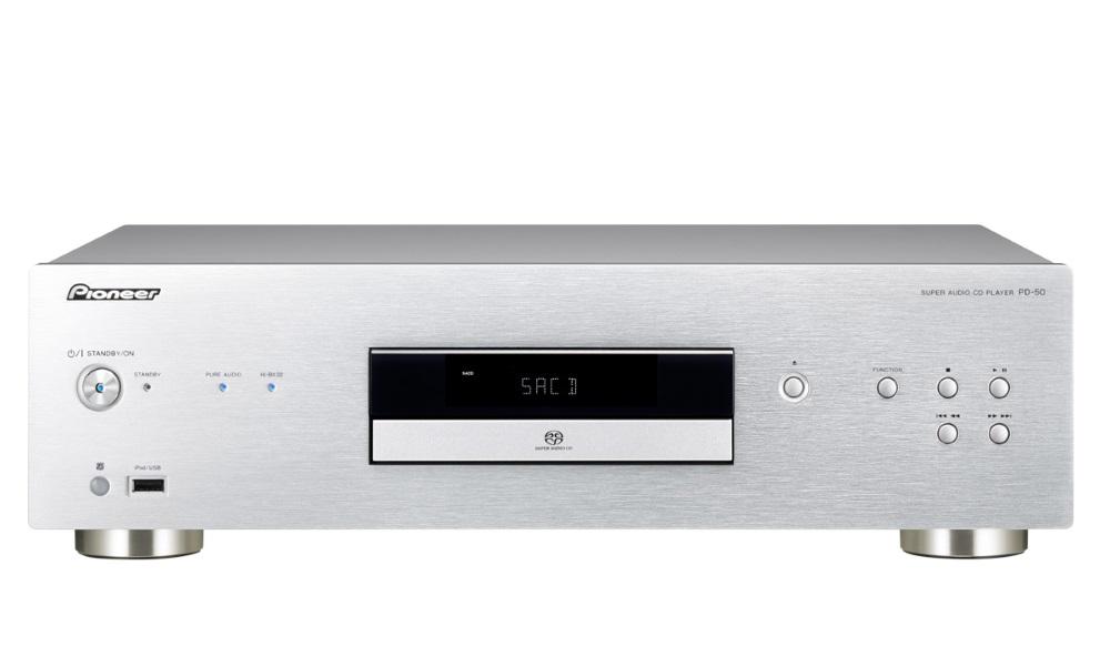 CD přehrávač Pioneer PD-50-S CD přehrávač, USB, CD, DVD, SACD, dálkové ovládání, stříbrný PD-50-S