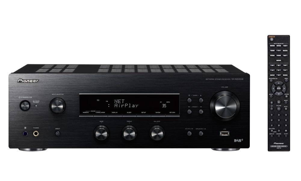 AV přijímač Pioneer SX-N30DAB-K AV přijímač, stereofonní integrovaný přijímač, Wi-Fi, Bluetooth, DLNA, USB, DAB, DAB+, FM tuner, dálkové ovládání, černý SX-N30DAB-K