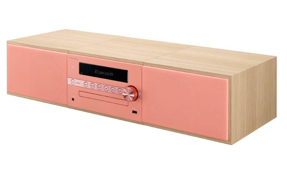 Mikrosystém PIONEER X-CM56-R červený Mikrosystém, 2.0, FM/AM, CD, Bluetooth, červený X-CM56-R