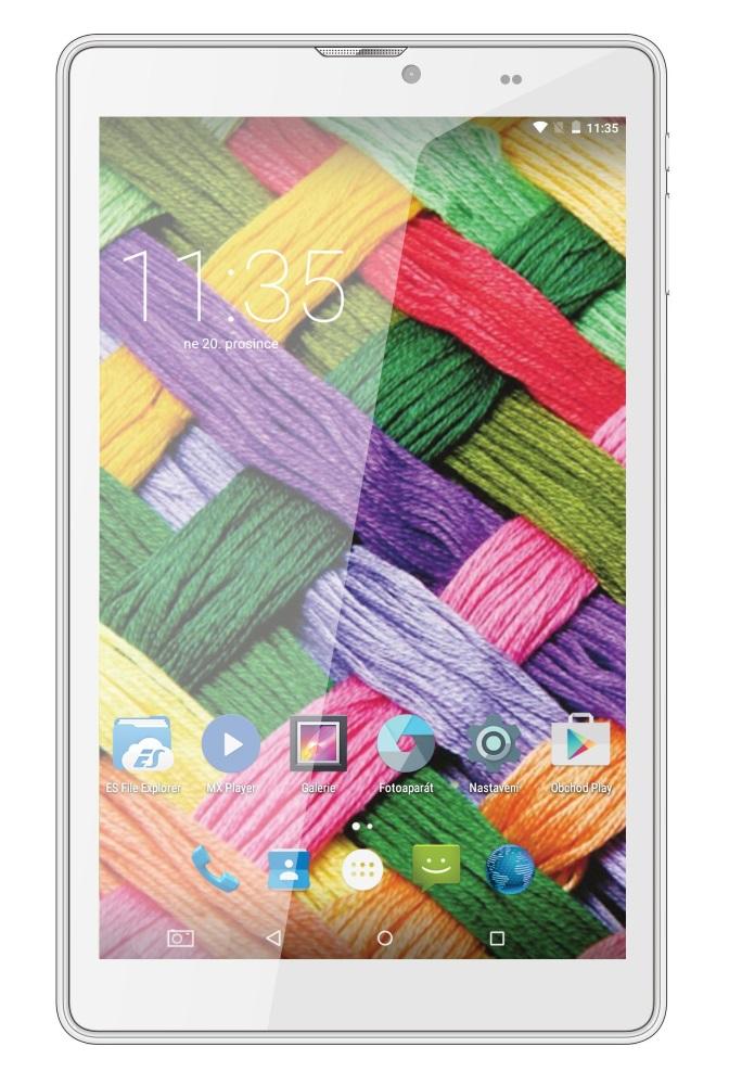 Tablet UMAX tablet PC VisionBook 8Qi 3G Tablet, 3G, 8 IPS, 1280x800, 1,5GB, 8GB Flash, GPS, micro USB, Android 5.1, bílý UMM200V8I