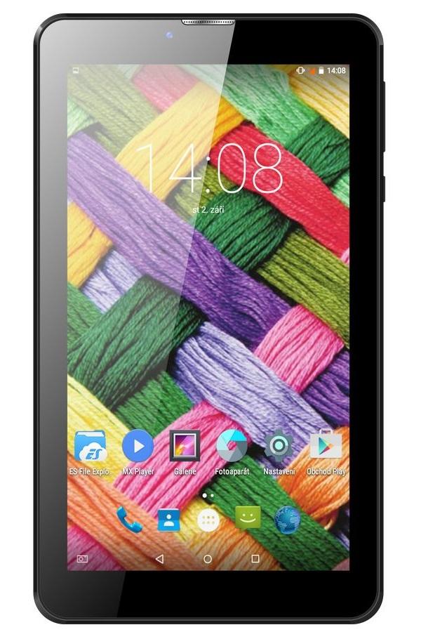 Tablet UMAX VisionBook 7Qi 3G Tablet, 7 IPS, 1024x600, 1 GB, 8 GB Flash, GPS, micro USB, Android 5.1, černý UMM200V7I