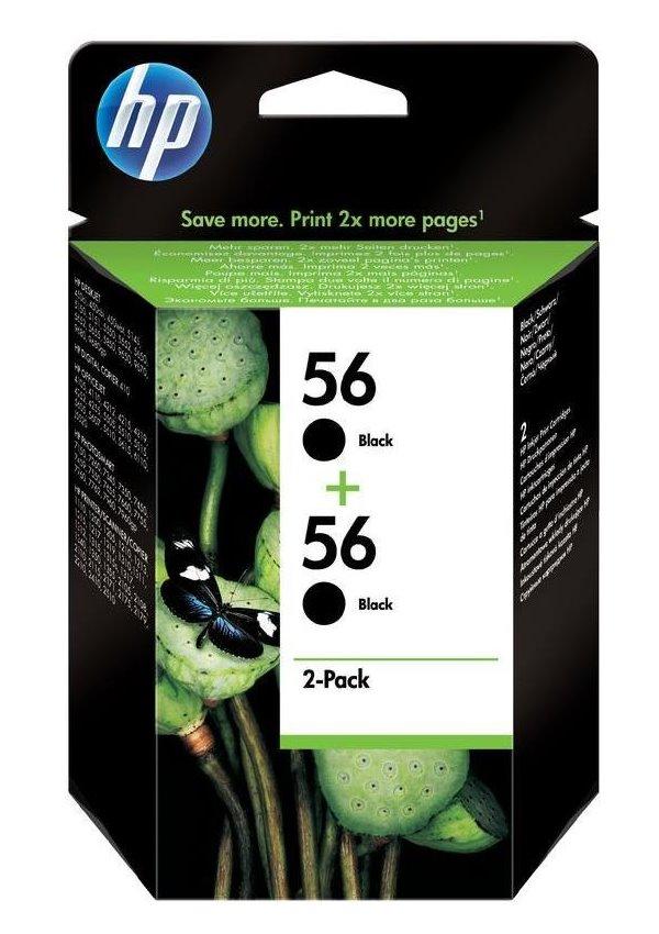 Cartridge inkoustová náplň HP 56 HP 2x C6656A - ink. černá, DJ 5550, doublepack C9502AE