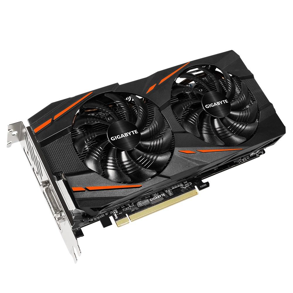 Grafická karta GIGABYTE AMD Radeon RX480 4GB Grafická karta, PCI-E, 4GB DDR5, 3xDP, HDMI, DVI, active Windforce GV-RX480WF2-4GD
