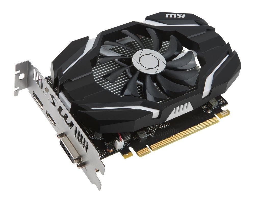 Grafická karta MSI GTX 1050 Ti 4G OC Grafická karta, PCI-E, 4GB GDDR5, DVI, HDMI, DP GeForce GTX 1050 Ti