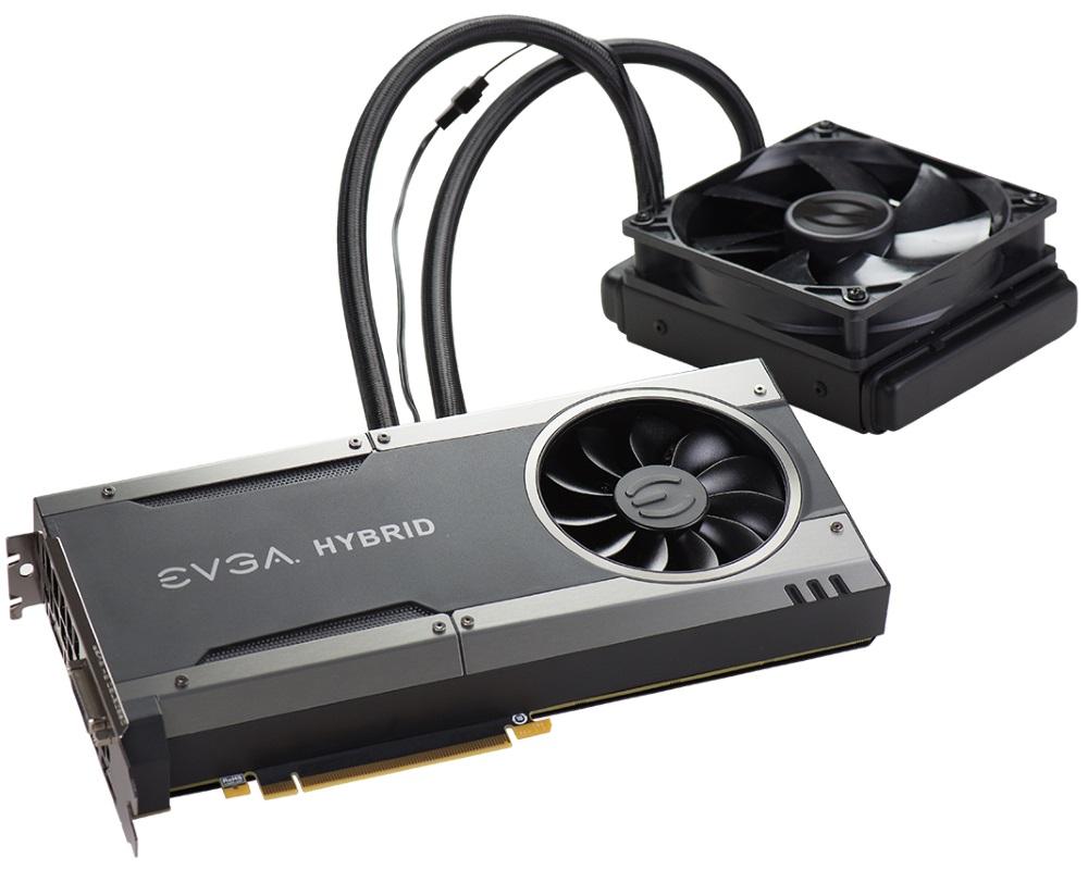 Grafická karta EVGA GeForce GTX 1080 FTW HYBRID Grafická karta, PCI-E, 8192MB GDDR5X, HDMI, 3xDP, DVI, VR Ready, FTW HYBRID GAMING 08G-P4-6288-KR