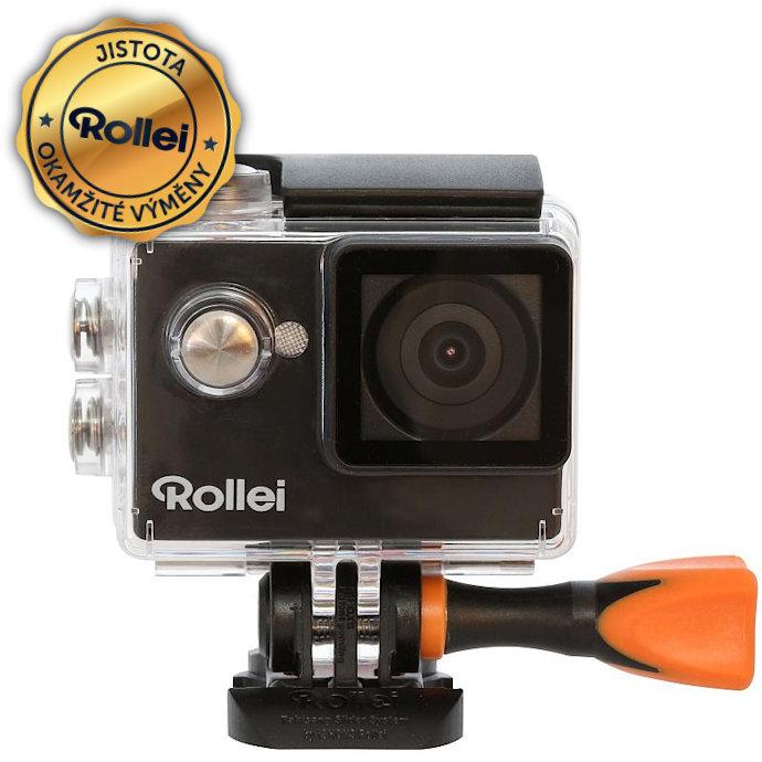 Kamera Rollei ActionCam 350 + baterie jako dárek Kamera, outdoor, 4K video 10 fps, 1080/30 fps, 140°, 40m pzd., Wi-Fi, černá