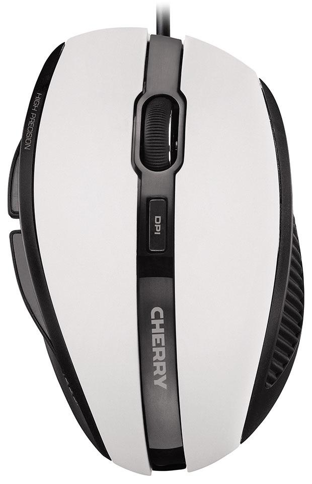 Myš CHERRY MC 3000 bílá Myš, drátová, optická, USB, ergonomická, bílá
