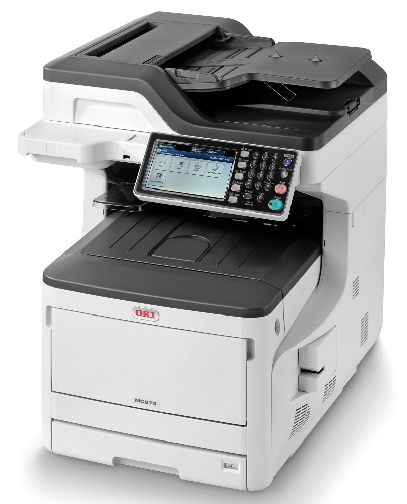 OKI MC873dn/ A3/ 35ppm/ 1200x600 dpi / PCL+PS/ Duplex/ Fax/ DADF/ USB/ LAN