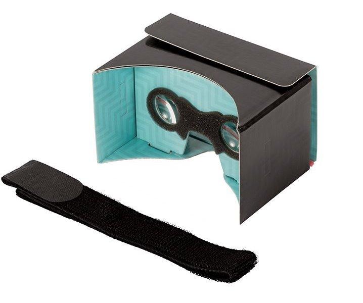 """3D brýle PanoBoard Click Boost 3D brýle, pro virtuální realitu, pro telefony od 4"""" do 5,6"""", černo-tyrkysová"""
