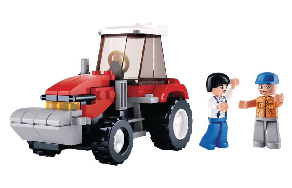 Stavebnice Sluban Traktor Stavebnice, 103 dílků, kompatibilní s LEGO