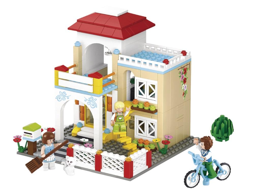 Stavebnice Sluban Rekreační vila Stavebnice, 380 dílků, kompatibilní s LEGO