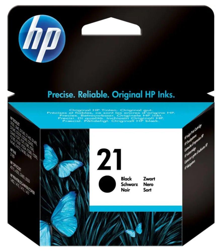 Inkoustová náplň HP 21 C9351AE černá Inkoustová náplň, originální, pro HP DeskJet 3920, 3940, černá C9351AE